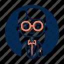avatar, diversity, female, girl, people, profession, professor icon