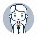 avatar, diversity, female, girl, people, profession, waitress icon