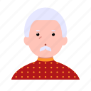 person, avatar, user, man, old, father, grandfather icon