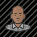 african, bald, elderly, man, old, senior, wrinkles icon