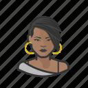 african, emo, goth, punk, woman icon