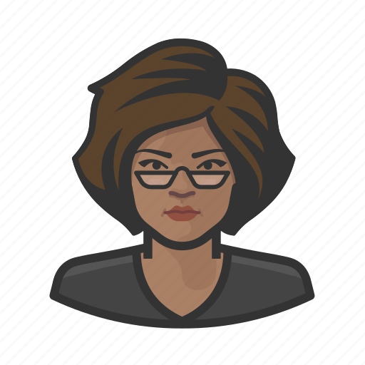 African, distinguished, glasses, reading, woman icon - Download on Iconfinder