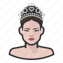 pageant, princess, royalty, tiara, woman icon