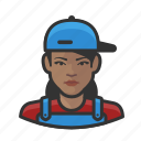 avatar, female, house, painter, user icon