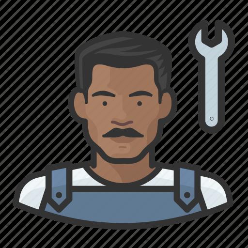 avatar, male, man, mechanic, user icon