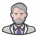 avatar, gray hair, labcoat, user icon