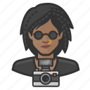 avatar, female, photographer, user, woman icon