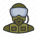 avatar, military, pilot, soldier, user icon