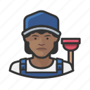 avatar, female, plumber, user, woman icon