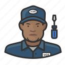 avatar, male, man, repair, technician, user icon