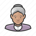 asian, avatar, female, old woman, senior, user, woman icon