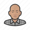 asian, avatar, male, man, old man, senior, user icon