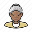 avatar, female, old woman, senior, user, woman icon