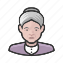 avatar, female, old woman, senior, user icon