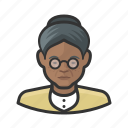 avatar, female, old woman, senior, user, woman