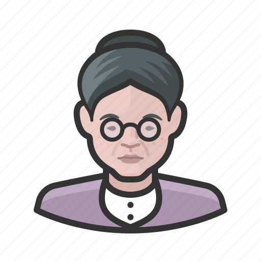 Avatar, female, old woman, senior, user, woman icon - Download on Iconfinder