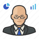 analyst, asian, male, stock icon