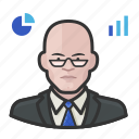 analyst, avatar, male, man, stock, user icon