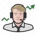 avatar, broker, male, man, stock, user icon
