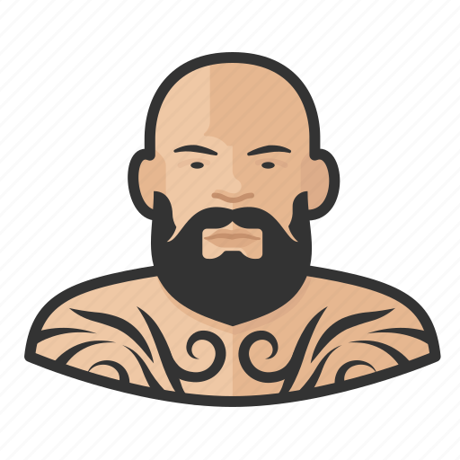 Asian, avatar, male, man, tattooed, user icon - Download on Iconfinder