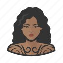 avatar, female, tattooed, user, woman icon