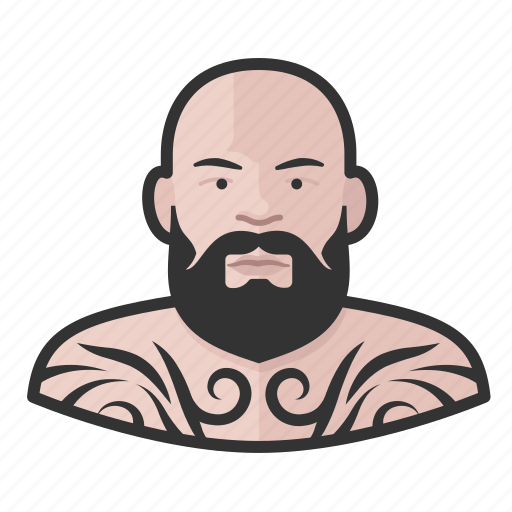 avatar, male, man, tattooed, user icon