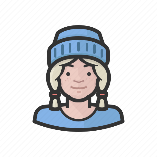 Avatar, female, girl, teenager, user icon - Download on Iconfinder