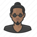 asian, avatar, beatnik, goatee, manbun, topknot, user icon