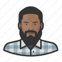 avatar, beard, hipster, male, millennial, user icon