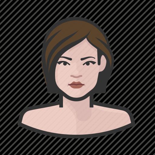 avatar, female, millennial, user, woman icon