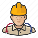 man, asian, user, hardhat, construction, avatar, technician