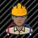 network, user, female, hardhat, construction, avatar, technician