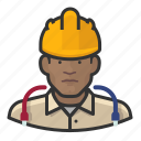 avatar, construction, hardhat, male, network, technician, user icon