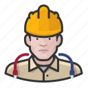man, user, hardhat, construction, avatar, technician