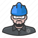 male, user, hardhat, construction, avatar, technician, nuclear