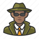 avatar, investigator, male, man, private investigator, spy, user icon