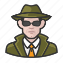 avatar, investigator, male, private investigator, spy, user icon