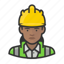 avatar, construction, hardhat, user, woman icon