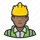 avatar, construction, hardhat, man, user