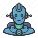 android, avatar, cyborg, droid, robot, user icon