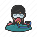 scuba diving, user, female, woman, avatar, scuba