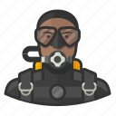 avatar, man, scuba, scuba diving, user
