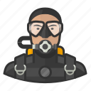 asian, avatar, man, scuba, scuba diving, user