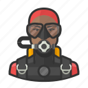 avatar, scuba, scuba diving, user, woman