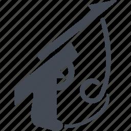 diving, gun, harpoon, speargun icon