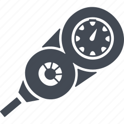 depth gauge, diving, measurement, soundings icon