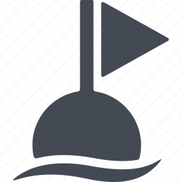diving, fishing equipment, flag, float icon