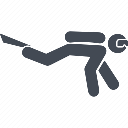 diver, diverskin, diving, frogman icon