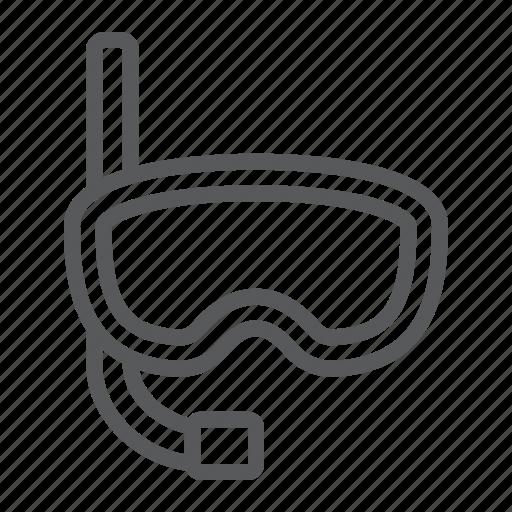 Dive, diving, mask, snorkel, sport, travel, underwater icon - Download on Iconfinder