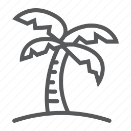 island, ocean, palm, tourism, travel, tree, tropical icon